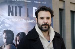 El actor Miquel Fernández, en la Ciutat de la Justícia.