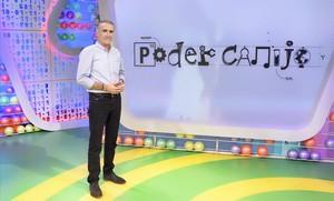 Juan y Medio, el presentador de Poder Canijo, en el plató del nuevo programa de TVE.