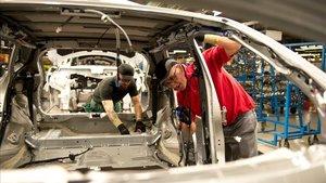 Trabajadores de Nissan de la planta de Sunderland.