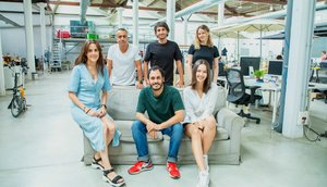 El equipo de la 'start-up' Trioteca, un comparador de hipotecas.