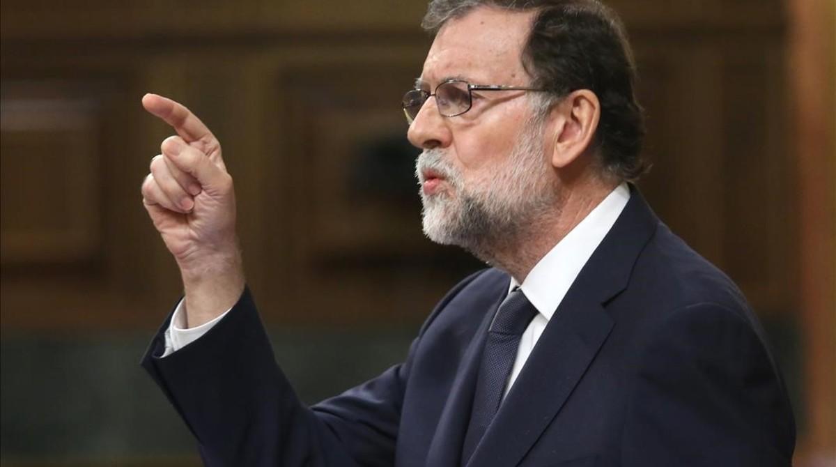 Mariano Rajoy en su réplica a Irene Montero.
