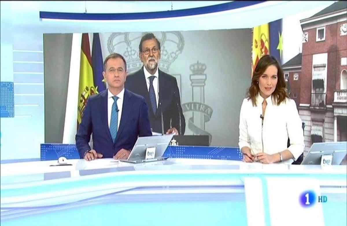 Imagen de uno de los informativos de TVE.
