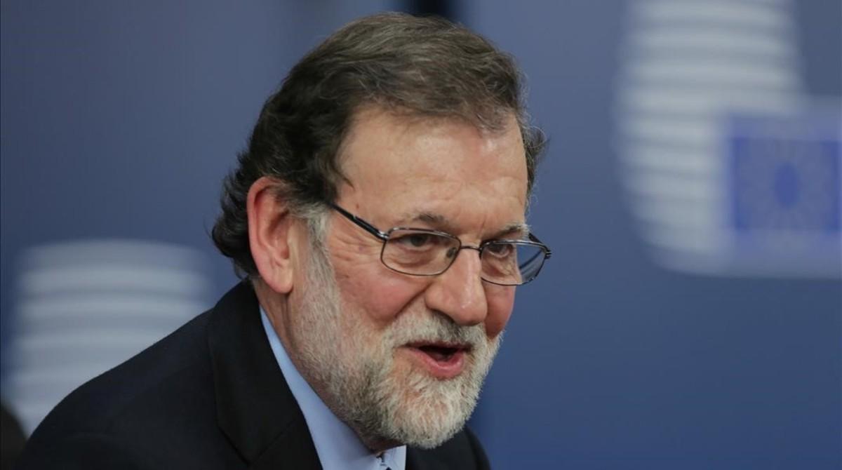 Mariano Rajoy, este jueves, en el Consejo Europeo de Bruselas.