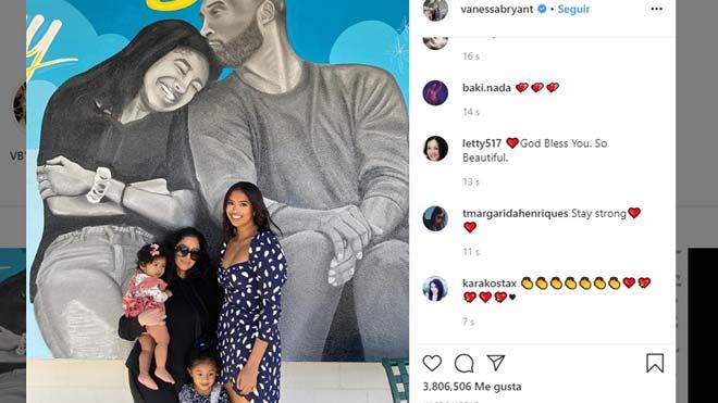 Vanessa Bryant publica la primera foto familiar tras el fatídico accidente de Kobe.