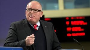 El vicepresidente de la Comisión Europea, Frans Timmermans, el pasado diciembre, en Bruselas.