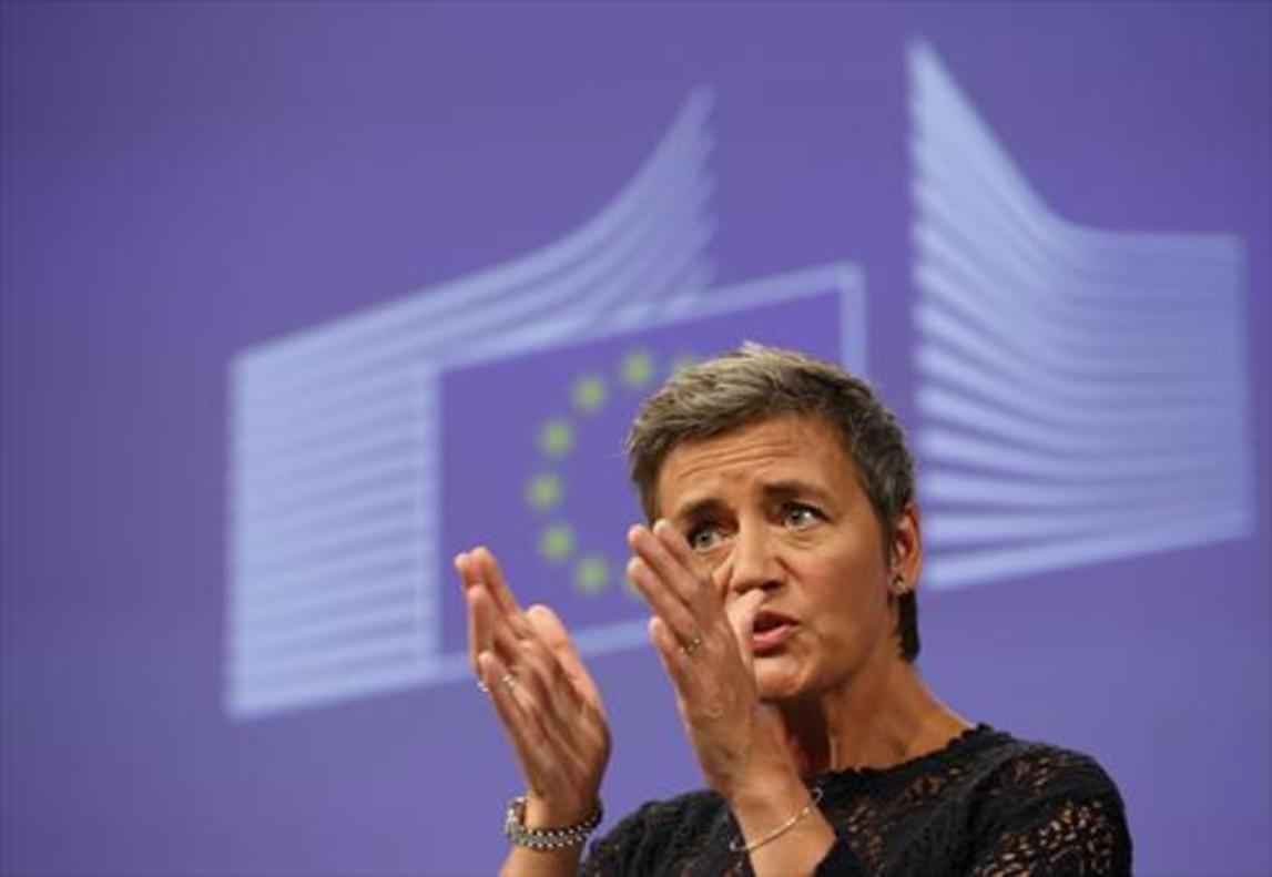 La comisaria de Competencia, Margrethe Vestarger, el pasado 1 de septiembre, en Bruselas.