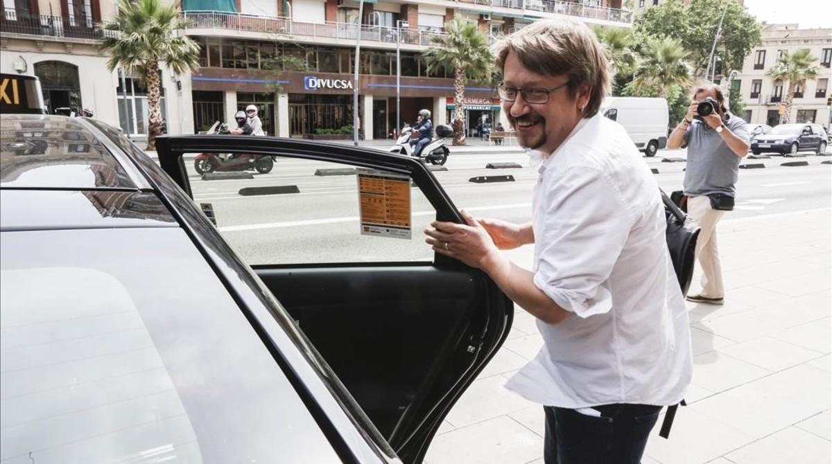 El líder de Catalunya en Comú, Xavier Domènech, el pasado 29 de mayo en Barcelona.