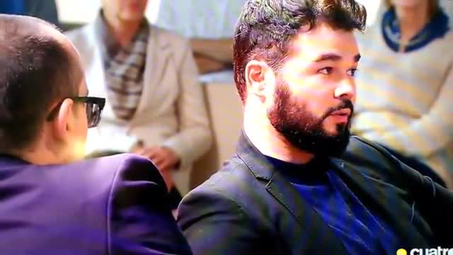 El 'zasca' de Risto Mejide a Gabriel Rufián durante el programa.