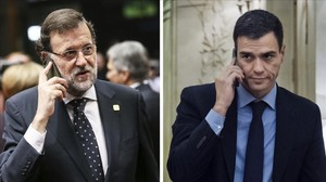 Rajoy mandó un SMS a Sánchez para felicitarle, pero este dice que no lo vio.