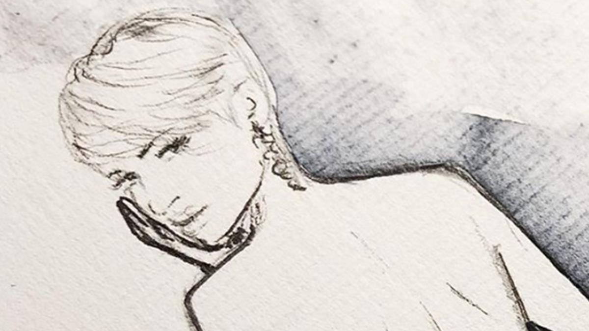 Laura Escanes, en un boceto del diseñador Ze García.