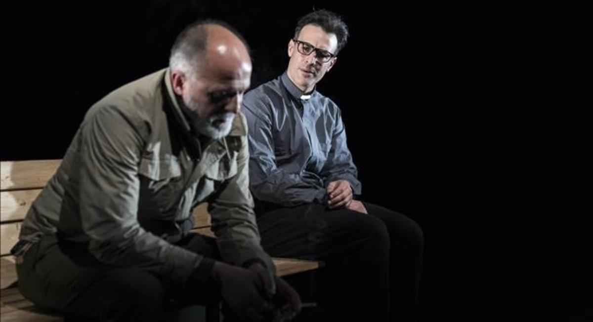Pablo Viña y Esteban Meloni, en una escena de Olvidémonos de ser turistas.