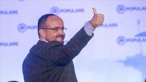 Alejandro Fernández, tras ser elegido presidente del PPC, el sábado en Sitges.