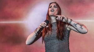 La cantante Floor Jansen, en un momento de la actuación de Nightwish en Barcelona, el sábado.