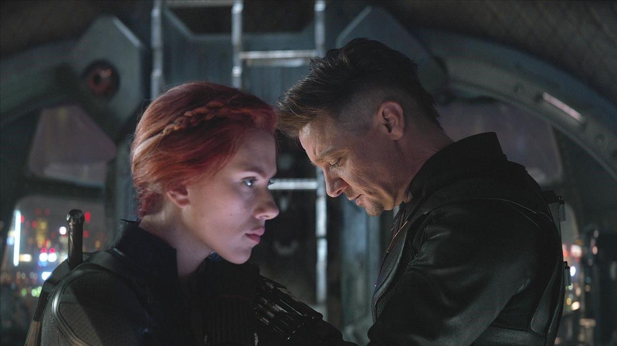La Viuda Negra y Ojo de Halcón, en una imagen de 'Vengadors: Endgame'.