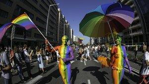 Manifestación del Orgullo LGTBIdel 2019 en Barcelona.