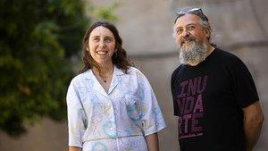 María Medem y Max, este jueves en Barcelona, tras recibir los premios de la ACDCómic.