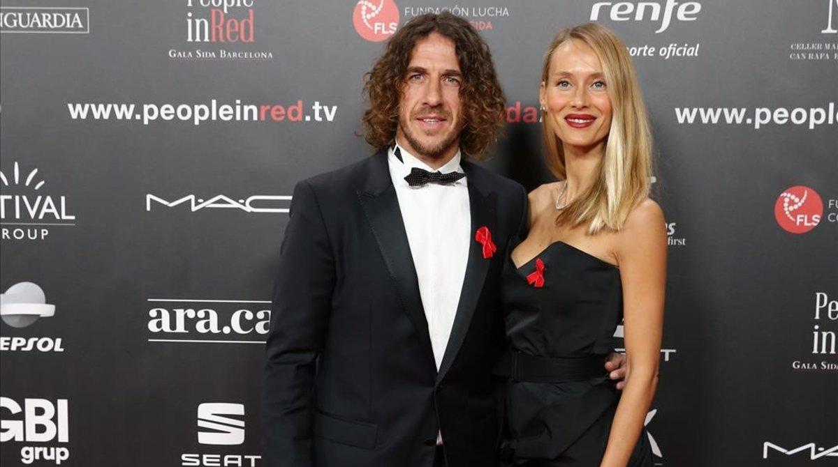 Carles Puyol y Vanesa Lorenzo.