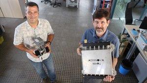 Raúl Aragonés y David Comellas, presidente y director general de Aeinnova