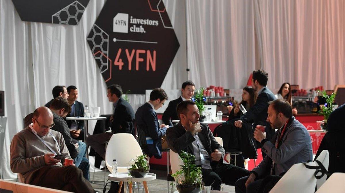 Zona de inversores en el 4YFN.