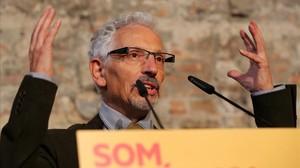 Santi Vidal, en un acto de ERC.