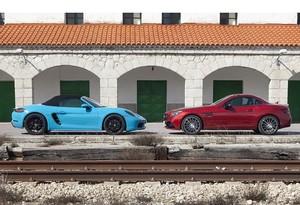 Porsche 718 Boxster S vs Mercedes-AMG SLC 43: conducción en estado puro