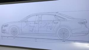 Dimensiones del nuevo Audi A8.