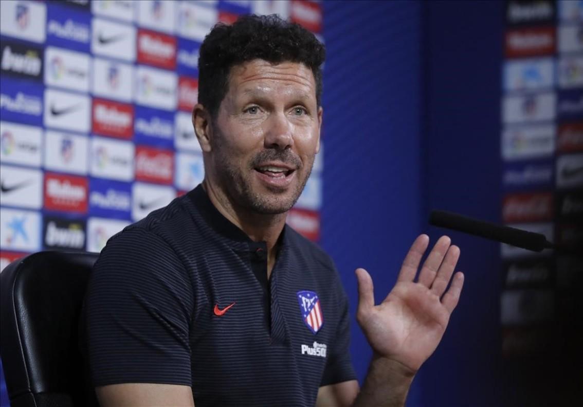 Diego Simeone en una reciente rueda de prensa
