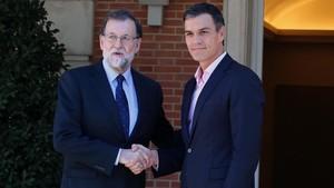 Encuentro de Mariano Rajoy y Pedro Sánchez.
