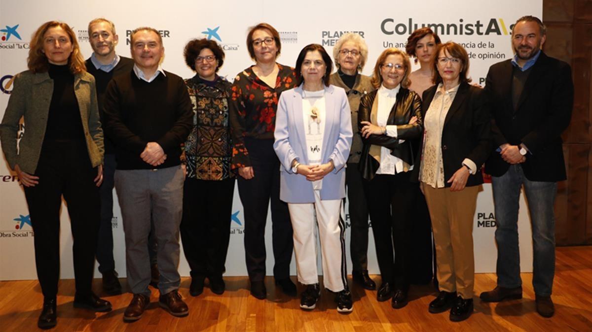 Presentación del informe sobre la presencia de la mujer en el periodismo de opinión, este martes en Madrid.
