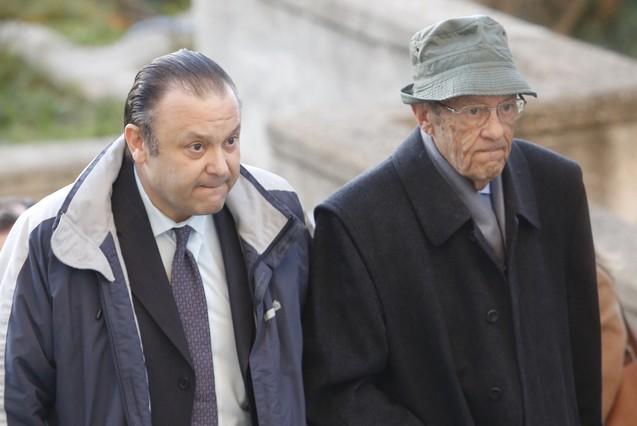 El principal acusado, Miguel ÁngelFlores (izquierda), a su llegada al juicio del Madrid Arena.
