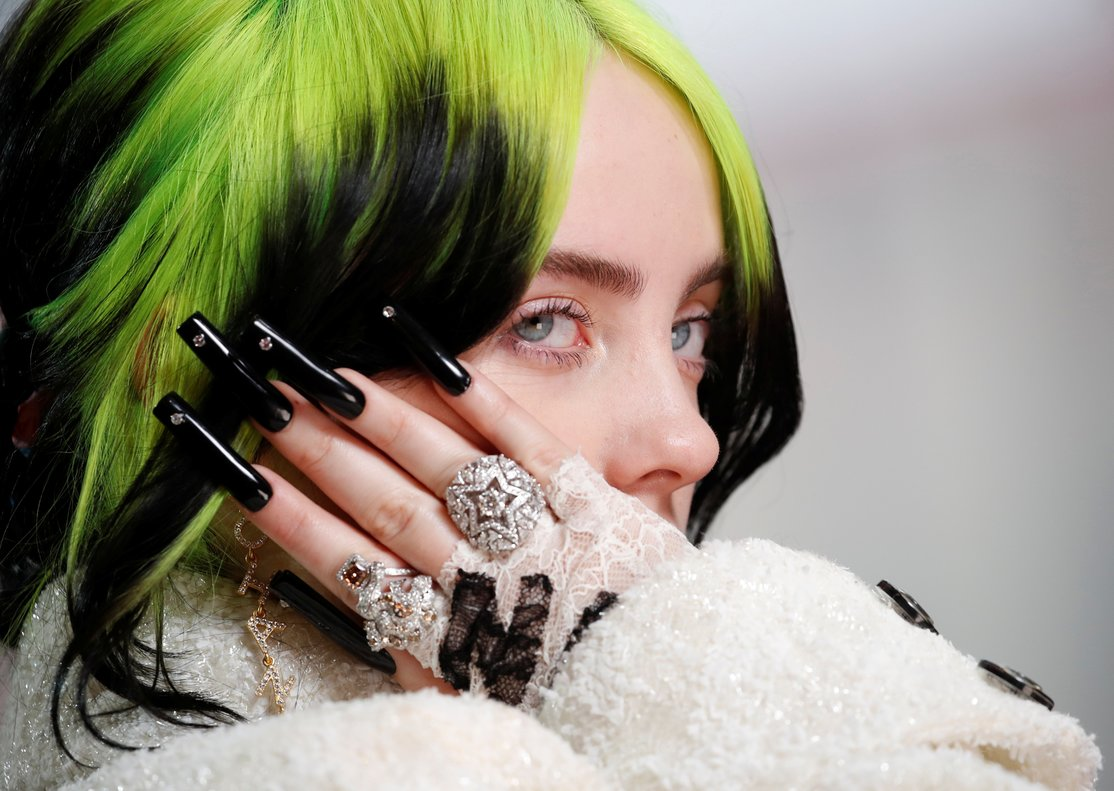 Billie Eilish in Chanel during the Oscars arrivals at the 92nd Academy Awards in Hollywood, Los Angeles, California, U.S., February 9, 2020. REUTERS/Mike Blake TPX IMAGES OF THE DAY