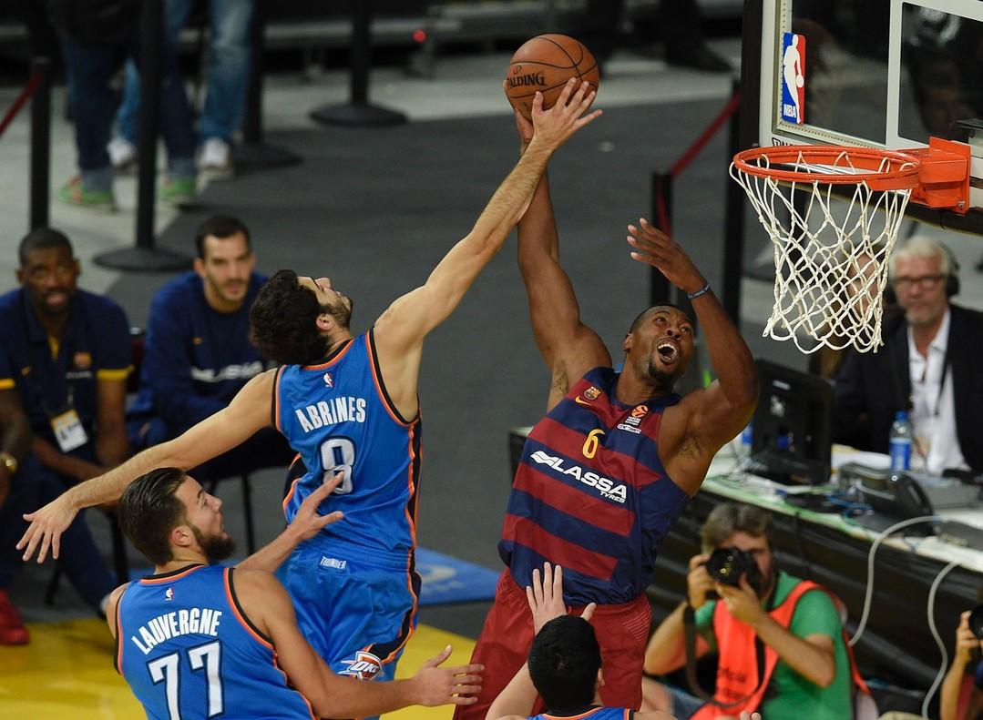 Los Thunder pasan un mal trago ante el Barça