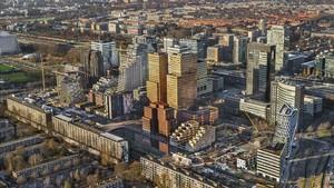 Vista aérea del distrito de Zuidas, en Amsterdam,que acogera la sede de la Agencia Europea del Medicamento.