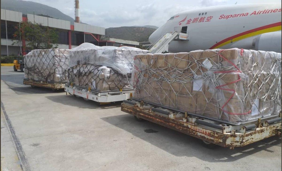 Venezuela ha recibido 465 toneladas de medicamentos y medicinas procedentes de China, Rusia, la Cruz Roja, OPS y Unicef.