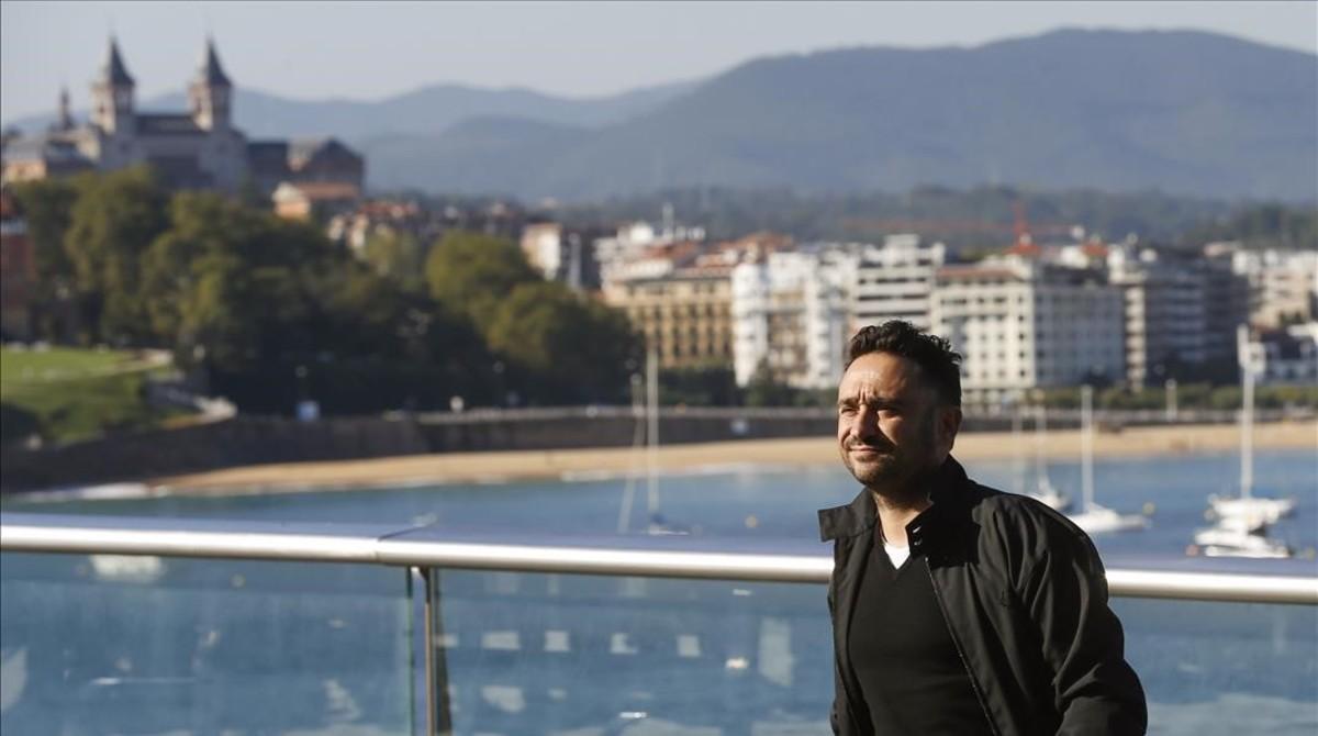 J. A. Bayona, en el festival de San Sebastián, donde ha presentado Un monstruo viene a verme, que se estrena el 7 de octubre.