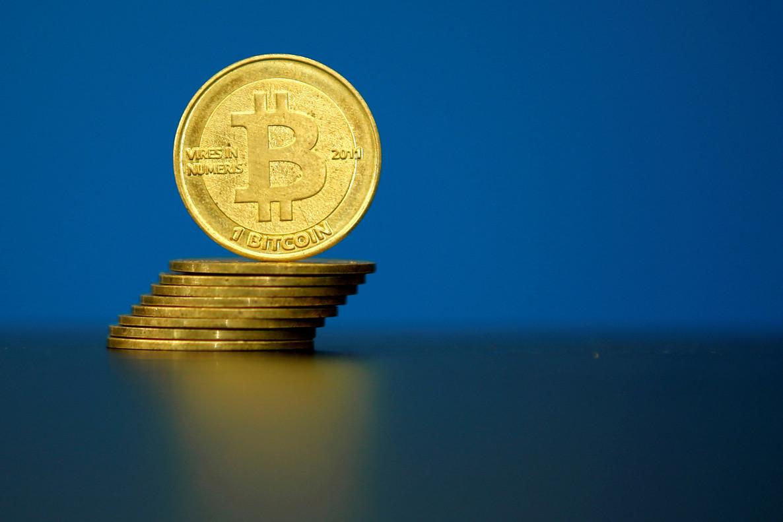 Foto de una ilustración de un bitcoin tomada en La Maison du Bitcoin in Paris.