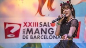 La cantante malagueña Airii Yami en el Saló del Manga.