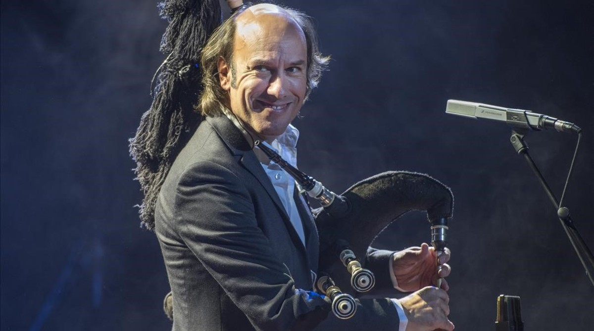 Carlos Núñez, en el Palau de la Música.