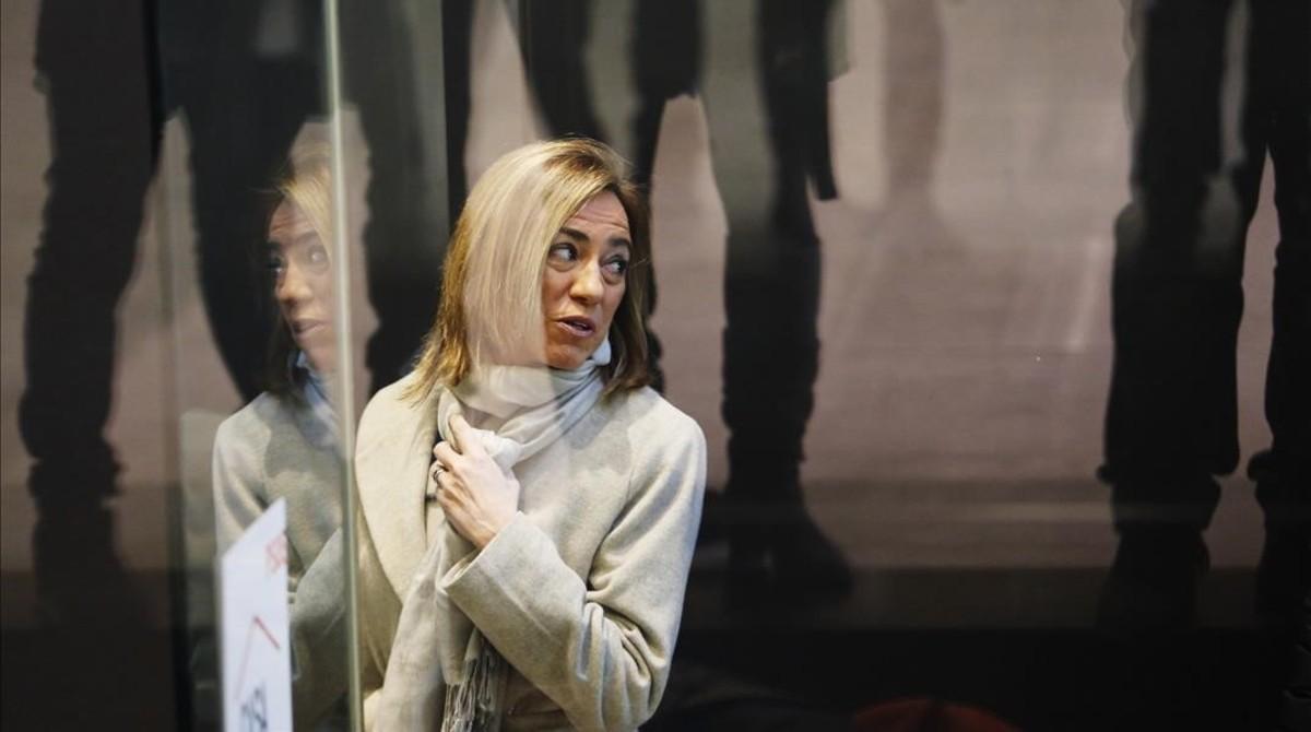 Carme Chacón, en la sede del PSOE en Madrid, en una imagen de febrero del 2016.