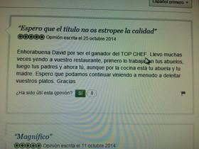 El comentario que reveló el vencedor de 'Top Chef' meses antes.