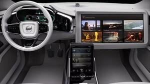 Aproximación al coche autónomo del futuro según Volvo, encarnado en el Concept 26.