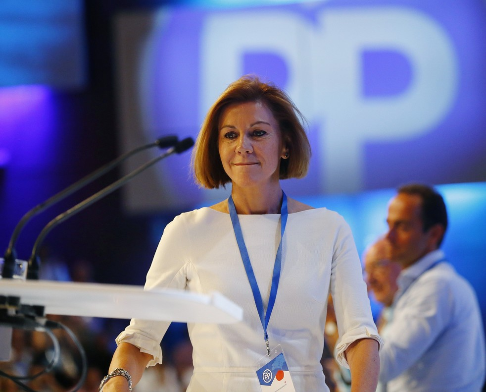 La ex secretaria general del PP, María Dolores de Cospedal.