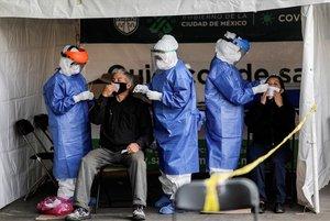 Módulo de pruebas de COVID-19 en México.