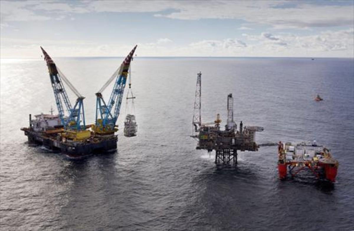 Zona de producción de petróleo.