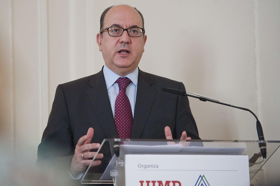 El presidente de la Asociación Española de Banca (AEB), José María Roldán, en una imagen de archivo.