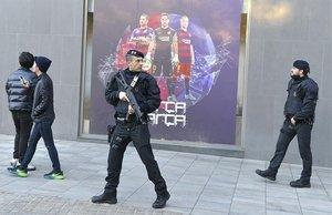 Despliegue policial en el Camp Nou.