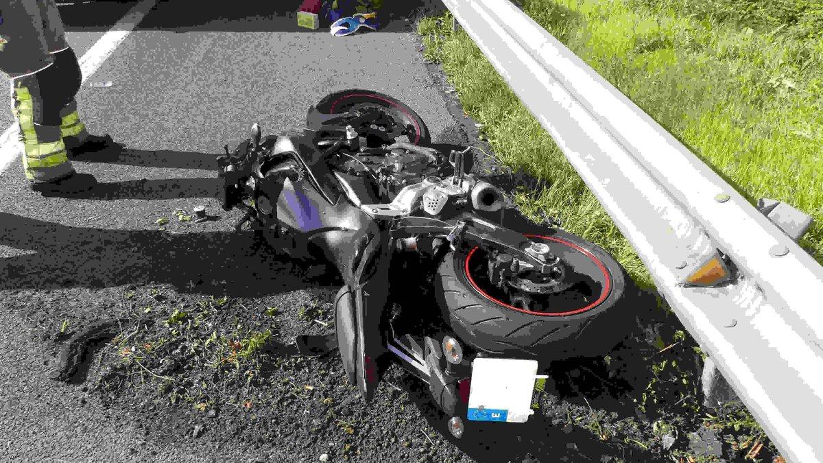 La moto del hombre fallecido este domingo en la B-20