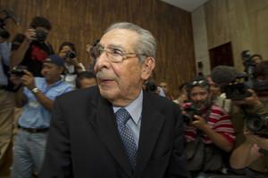 El dictador Ríos Montt, en el juicio del 10 de mayo del 2013, en Guatemala.