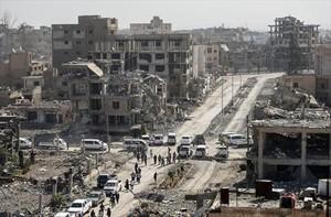 Edificios destruidos en la ciudad siria de Raqqa, el viernes pasado.