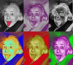 Ilustración de Albert Einstein.